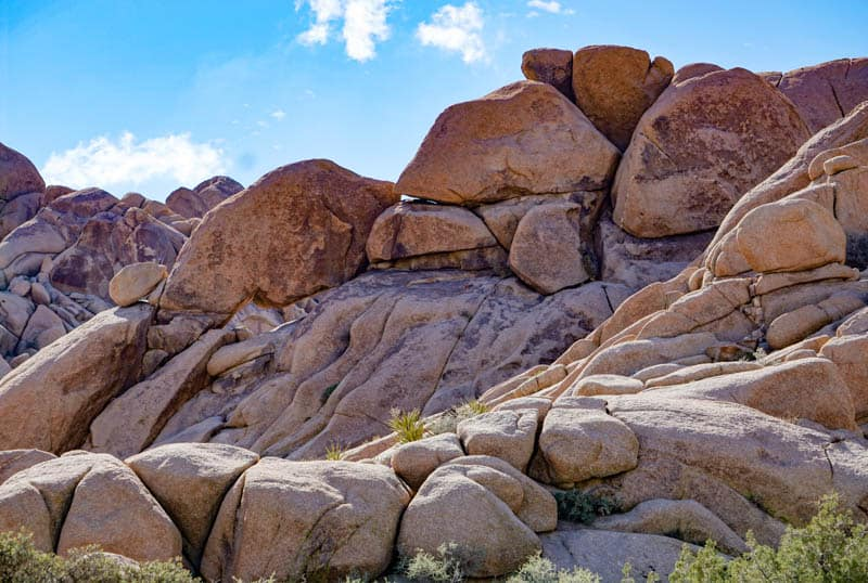 Boulders in Joshua Tree NP California