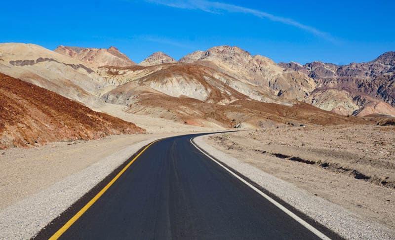 Artist Drive Death Valley NP California