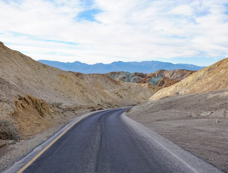 Artist's Drive in Death Valley is fully paved