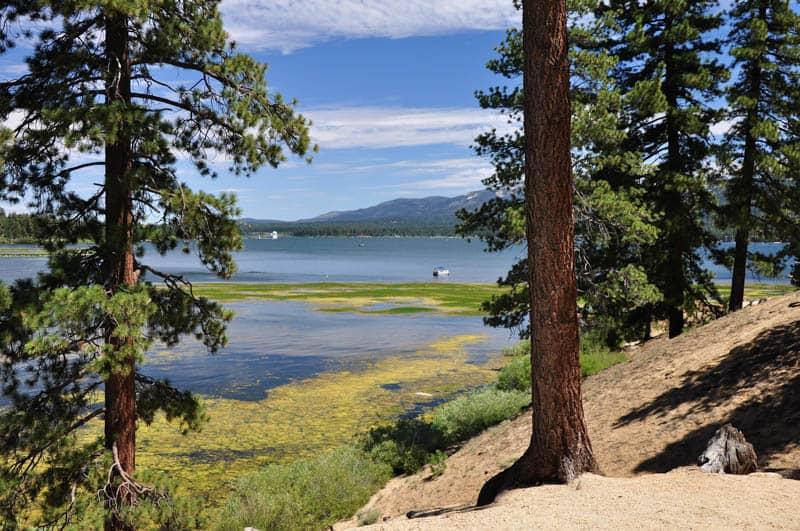 Beautiful Big Bear Lake is an year round resort area.
