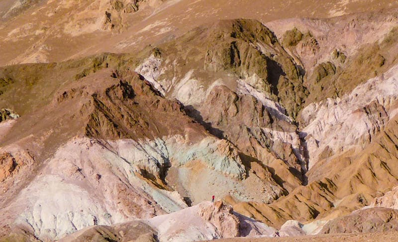 Colored Mineral Deposits at Artist's Palette in Death Valley