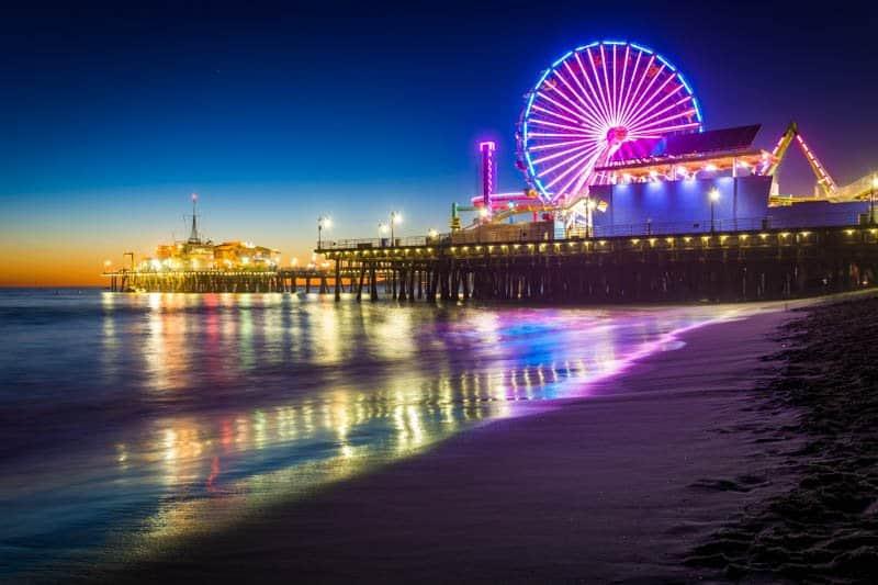 Ferris Wheel Santa Monica Pier California