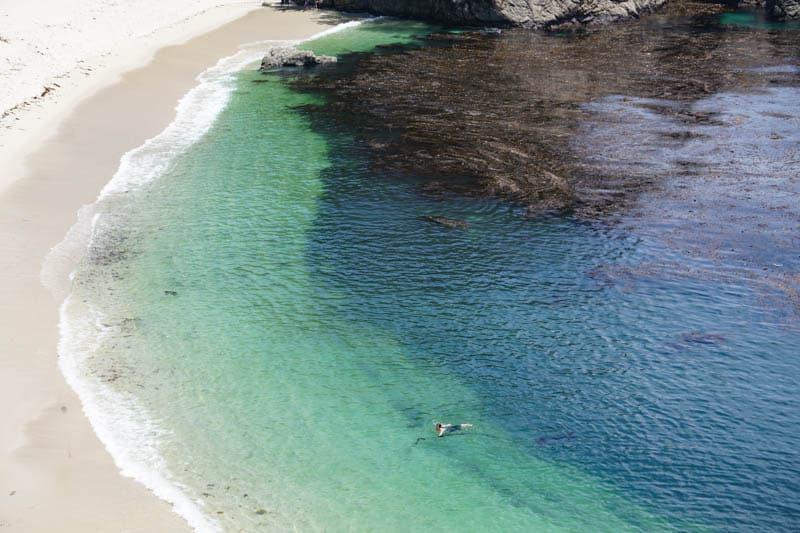 Gibson Beach at Point Lobos in Central California