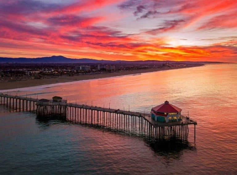 The pier at Huntington Beach California