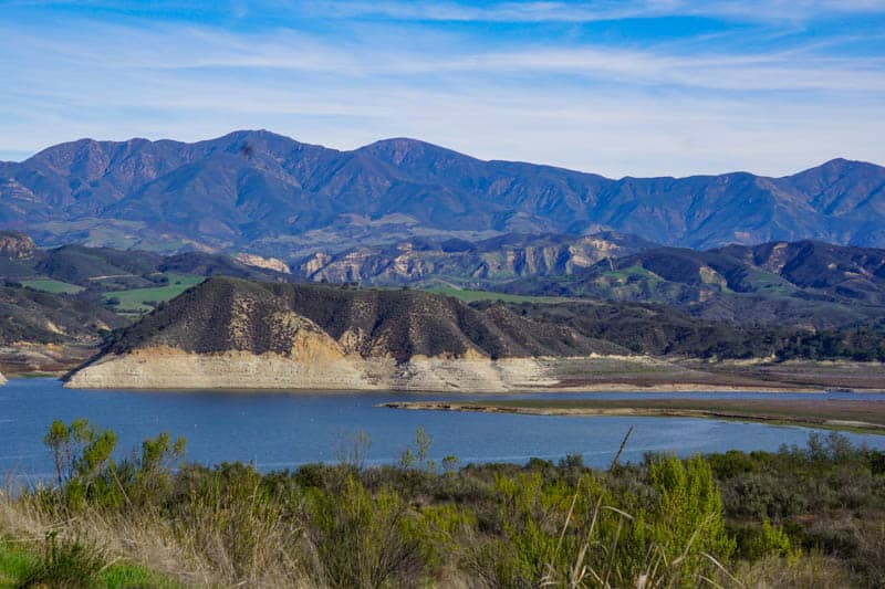 Lake Cachuma in the Santa Ynez Valley California