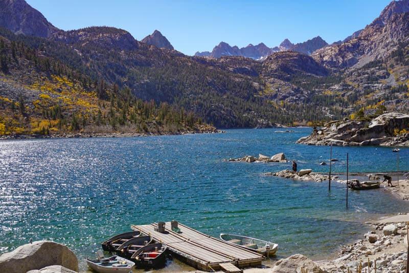 Lake Sabrina in the Eastern Sierra California