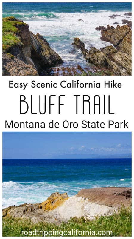 Hike the super easy and super scenic Bluff Trail at the Montana de Oro State Park in Central California! Cool rock formations, tide pools, and sea birds!
