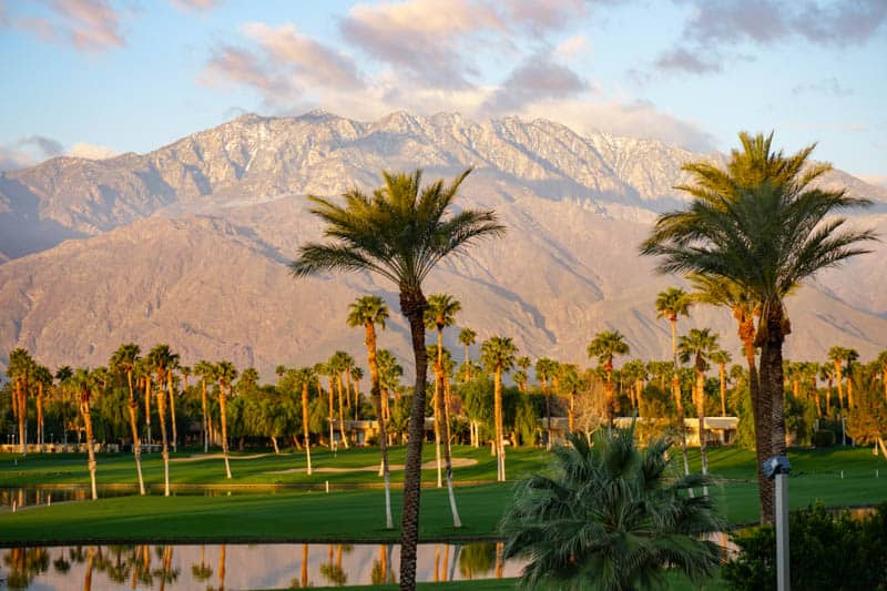 The Greater Palm Springs area is known for its many resorts and golf courses.