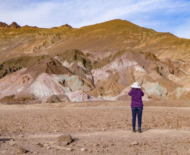 Photographing Artist's Palette in Death Valley National Park