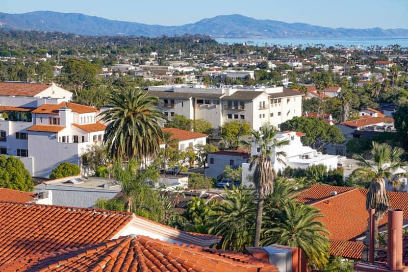 Ocean View from the Santa Barbara Clock Tower in California