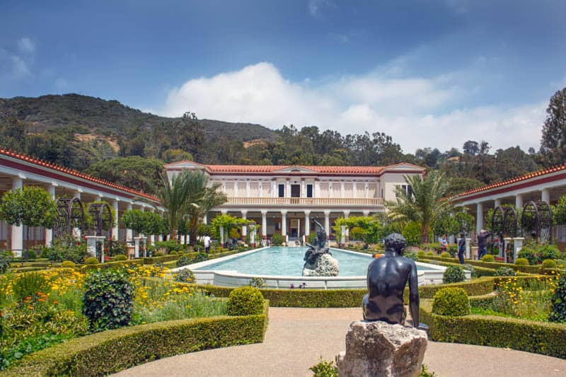 The beautiful Getty Villa and Gardens