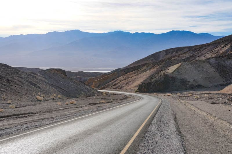 Scenery on Artist's Drive in Death Valley California