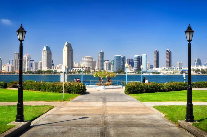 View of San Diego from Coronado Island California