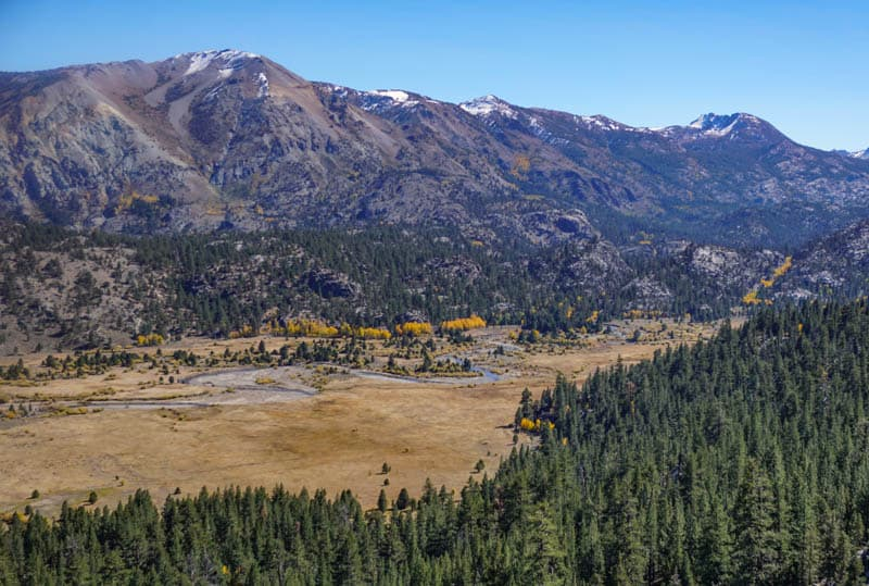 A View from the Sonora Pass Road California