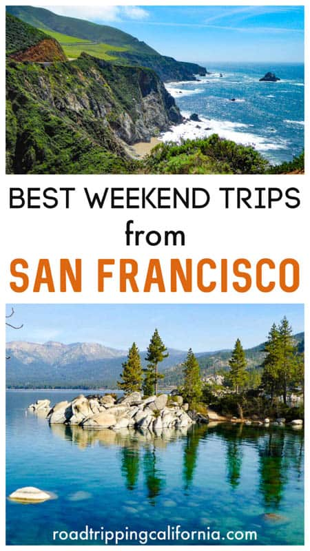 Discover the best getaways from San Francisco, from romantic retreats to beach towns and national parks to other vibrant cities!