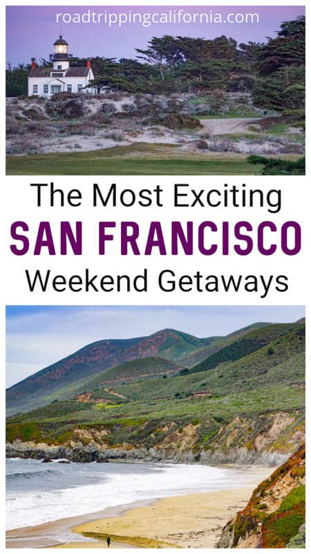 Check out these fabulous weekend escapes from San Francisco by road! SF weekend getaways | weekend trips from San Fran | best weekend trips from San Francisco | where to go for the weekend from san Francisco