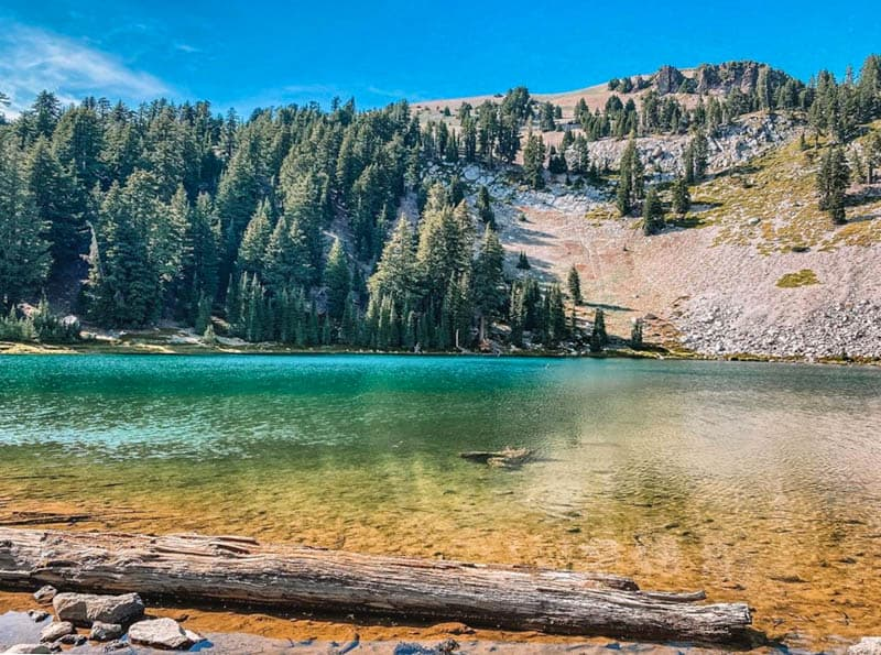 Emerald Lake Lassen Volcanic National Park California