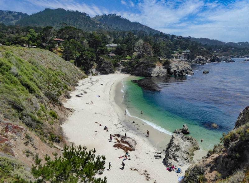 Gibson Beach Off Bird Island Trail Point Lobos California