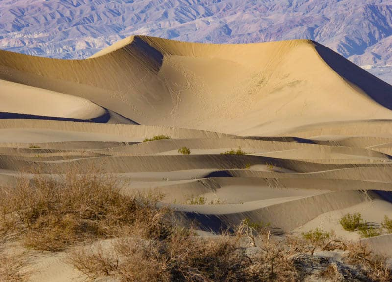 Mesquite Flat Sand Dunes in Death Valley National Park