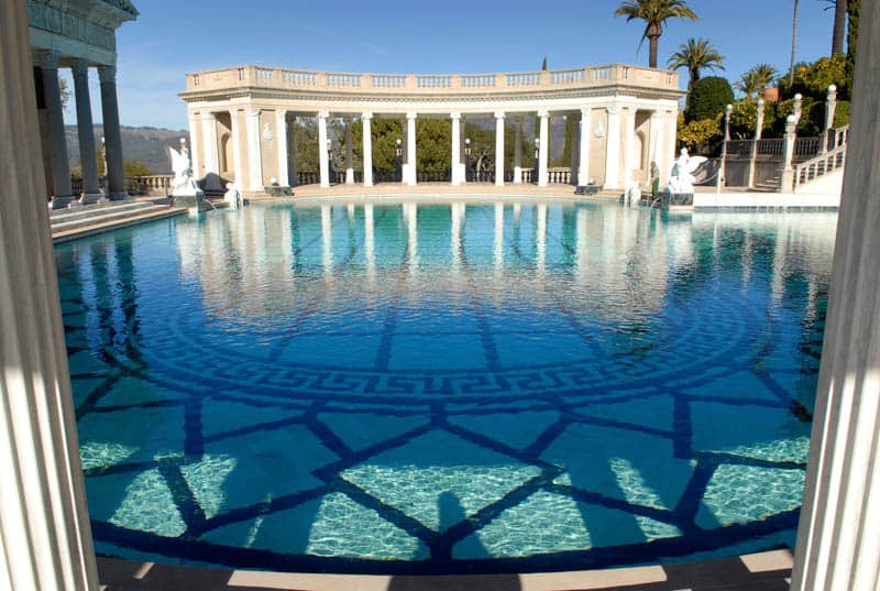 Neptune Pool at the Hearst Castle in San Simeon California