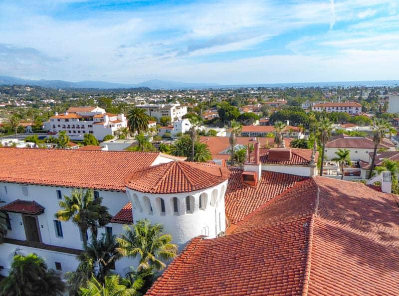Rooftops of Santa Barbara California