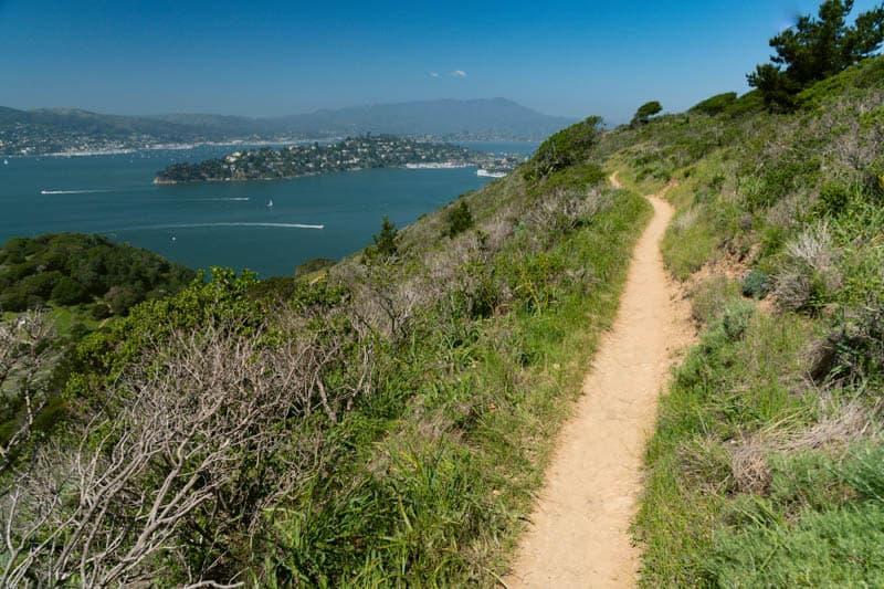Trail on Angel Island in San Francisco Bay