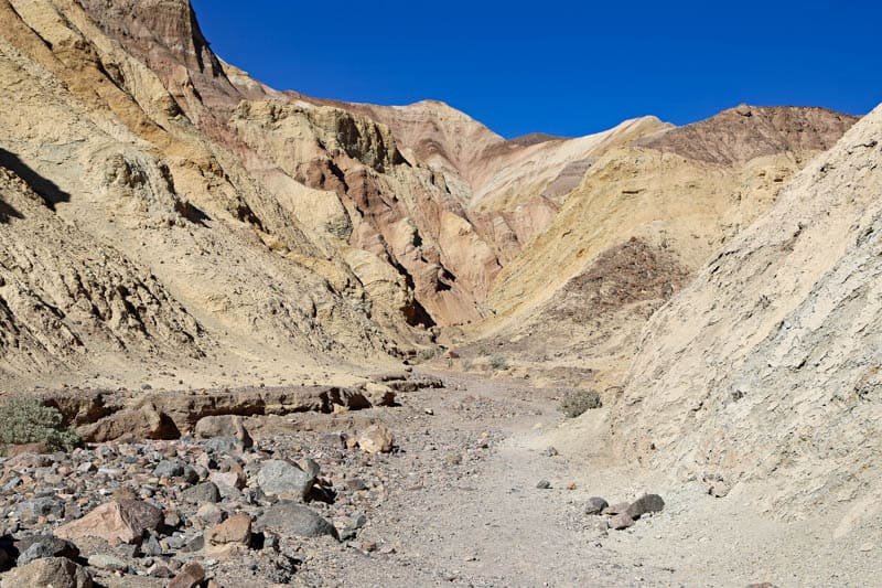 View from the Golden Canyon Trail in Death Valley