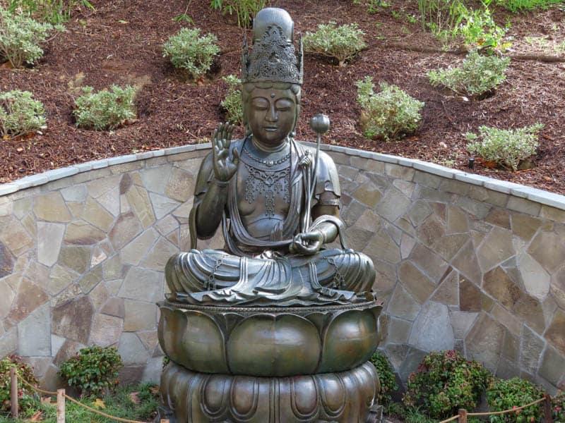 Kannon Bosatsu Statue Japanese Garden San Diego