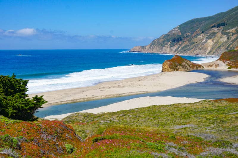 Little Sur River Beach Big Sur California