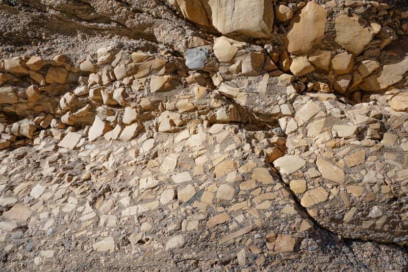 Mosaic Breccia in Mosaic Canyon Death Valley California