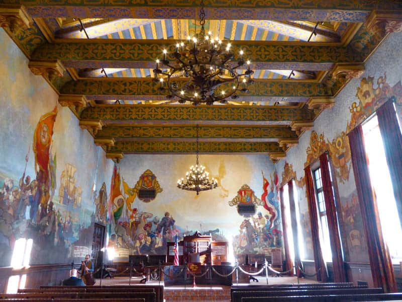 Mural Room Santa Barbara County Courthouse, Santa Barbara, California