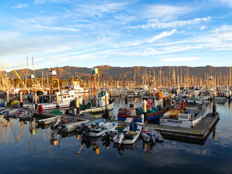 Santa Barbara Harbor at Sunrise