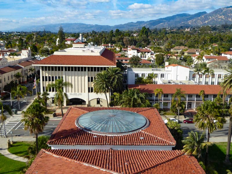 View from Clock Tower County Courthouse Santa Barbara California