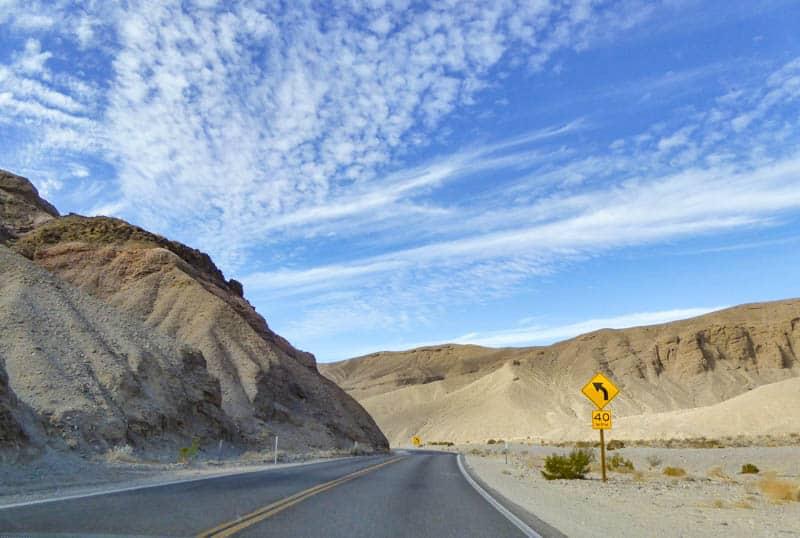Road in Death Valley California