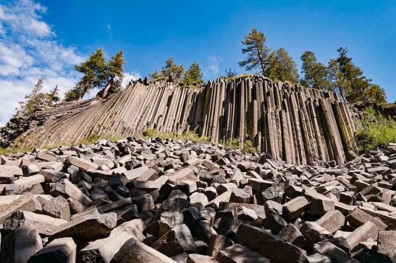 Devils Postpile National Monument in Mammoth Lakes California