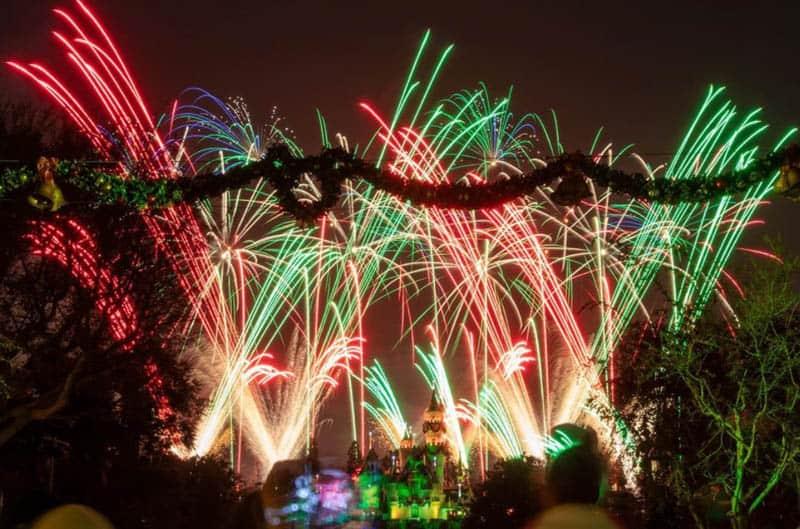 Disneyland California holiday fireworks