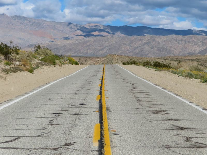 Road to Coachella Valley Preserve near Palm Springs California