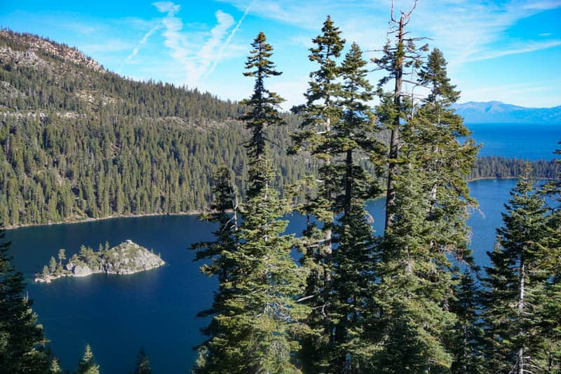 View from Inspiration Point Lake Tahoe California