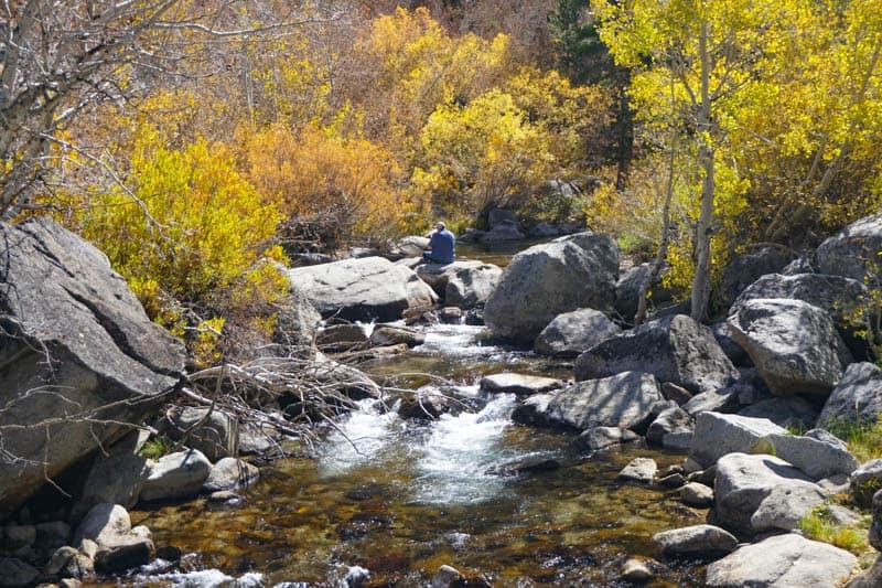 Fishing in Bishop Creek Canyon California