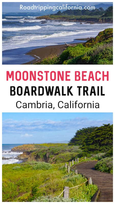 Walk the beautiful Moonstone Beach Beach Boardwalk trail in Cambria, California. The pretty trail is one of the top things to do in Cambria.