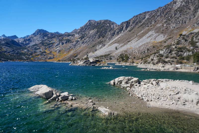 Lake Sabrina in Bishop Creek Canyon California