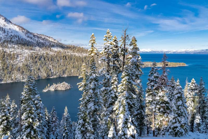 Lake Tahoe is definitely a place to visit in California in December!