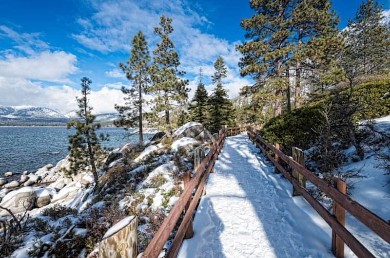 Lake Tahoe in California is a winter wonderland