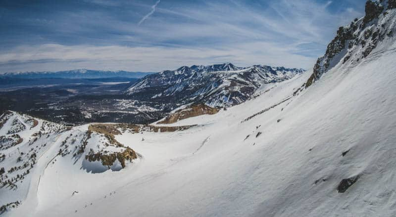 Mammoth Lakes in the winter