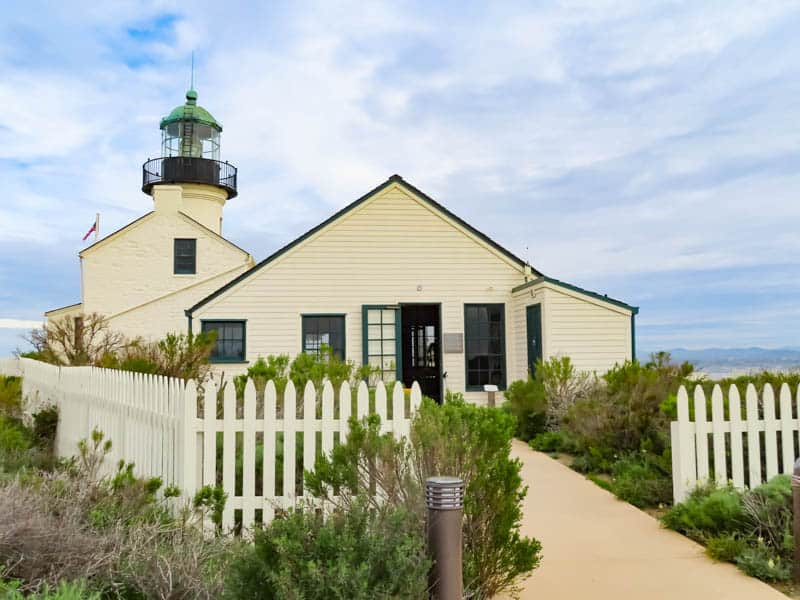 Old Point Loma Lighthouse at Cabrillo national Monument San Diego California