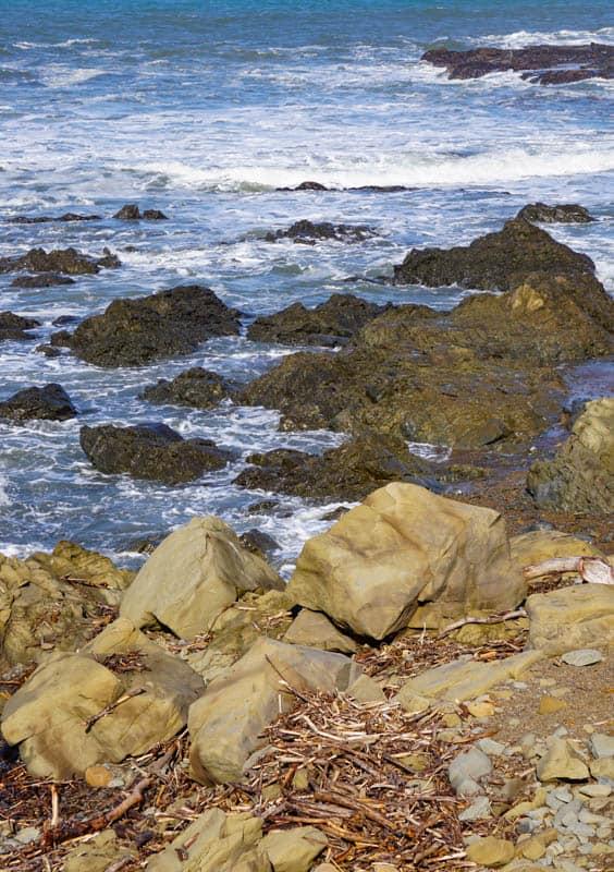 Rocky outcrops Moonstone Beach Cambria California