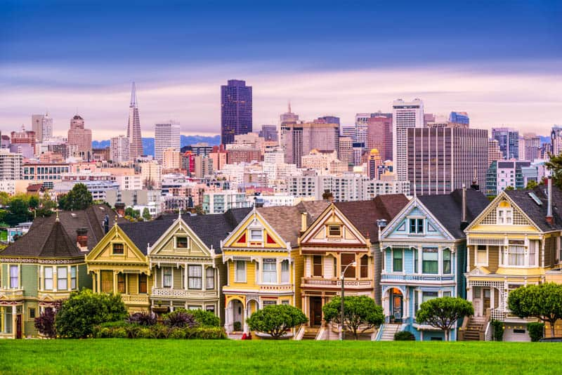 San Francisco Painted Ladies on Alamo Square