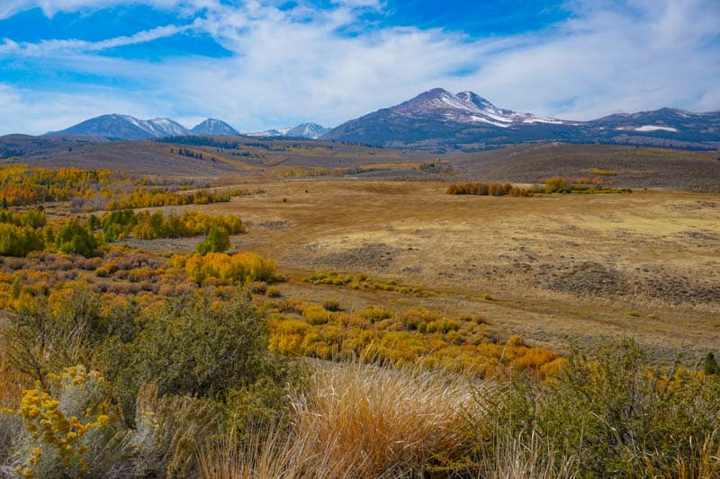 The scenery you will see on the Eastern Sierra Road Trip is beautiful!