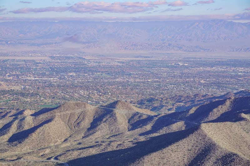 View from Coachella Valley Vista Point, Palms to Pines Scenic Byway, California