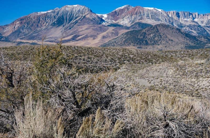 View from Mono Lake South Tufa Road in Eastern Sierra California